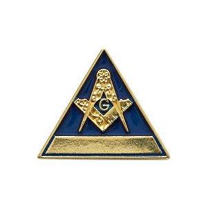 Pin Esquadro e Compasso Triangular Azul