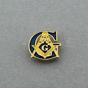 Pin G + Esquadro e Compasso Azul