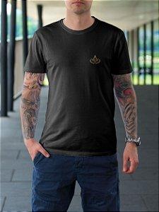 Camiseta Esquadro e Compasso + Acácia - Bordado