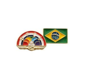 Pin Rainbow Girls + Brasil