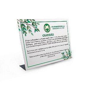 Placa Homenagem - 15x21 cm