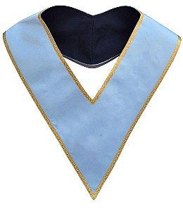 Colar azul com orla dourada