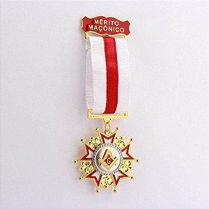 Comenda Mérito Maçônico - Fita Vermelha