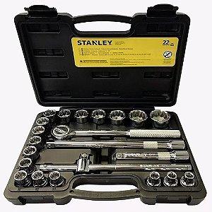 Jogo de Chave Catraca com Soquetes 8 a 32 mm Stanley