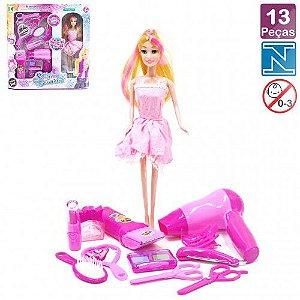Boneca Kit de Beleza 13 peças Shining Cosmetic