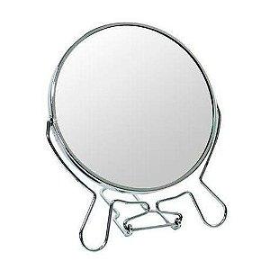 """Espelho de Aumento 7"""" (18 cm) Dupla Face"""