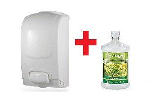 Dispenser Saboneteira 1,5 litros Plestin + Sabonete Líquido 1 litro Erva Doce Premisse