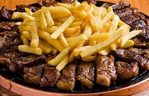 Batata Frita Média 1kg + Carnes
