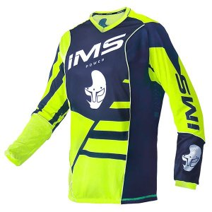 Camisa IMS Power - branca, azul, neon
