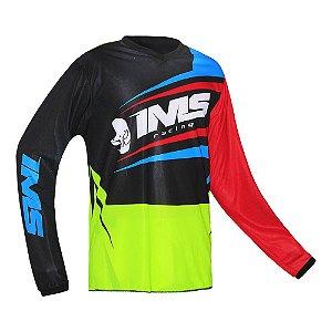Camisa trilha moto e bike IMS Flex neon