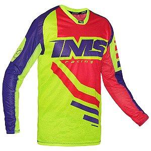 Camisa trilha moto e bike IMS Sprint neon
