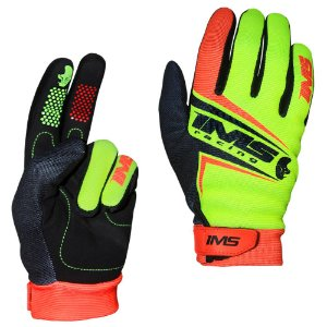 Luvas para moto ou bike IMS Flex laranja neon