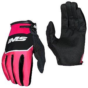 Luvas para moto ou bike IMS Power vermelha neon