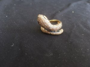 anel zirconia cobra champagne banho ouro doze- aro 17