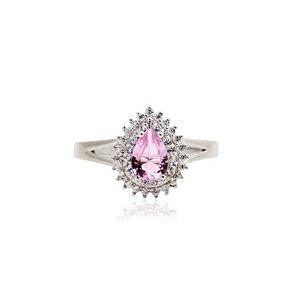 anel cristal fusion gota quartzo rosa-aro 18