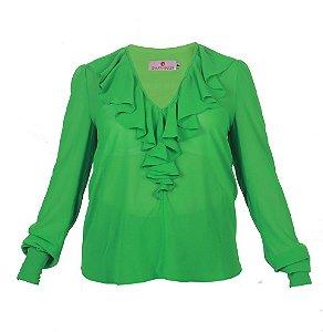 Blusa feminina com jabour – Verde
