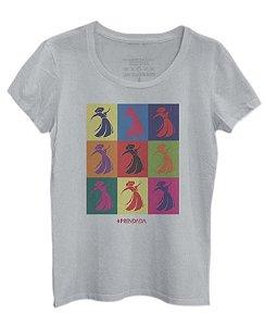 Camiseta Prendada Pop - Cinza