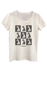 Camiseta Prendada Pop estampa em preto - off white