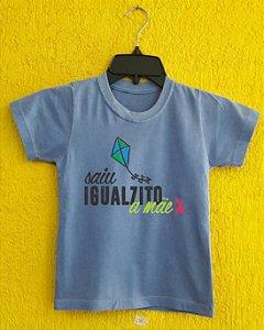 Camiseta Infantil Dia das Mães - Pipa azul - Azul