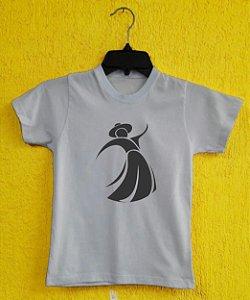 Camiseta Infantil Gauchinha - Branca