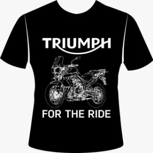 Camiseta Preta Triumph Tiger