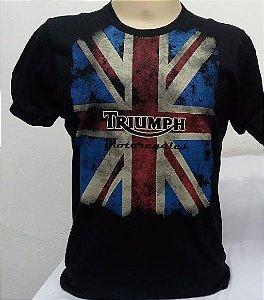 Camiseta Preta Triumph Bandeira