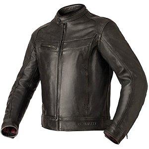 Jaqueta Motociclista Riffel Prime Couro Legítimo Com Proteções
