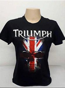 Camiseta Preta Triumph Caveira