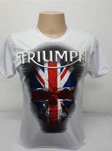 Camiseta Branca Triumph Caveira