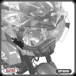 Protetor de Farol Policarbonato Triumph Tiger800 2012+ Scam Spto303