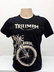 Camiseta Preta Triumph Moto Antiga
