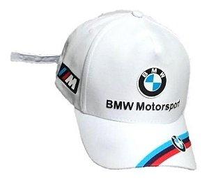 Boné Branco Moto BMW