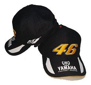 Boné Moto Yamaha 46 Preto Bordado