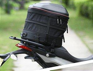 Mala Expansível de Rabeta para Moto Com Capa Impermeável
