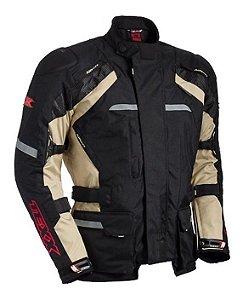 Jaqueta Moto Masculina Texx Force 3 Impermeável Bege