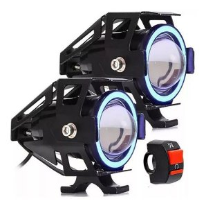 Par Farol Milha Moto Led Auxiliar Neblina Lk-U7 Resistente