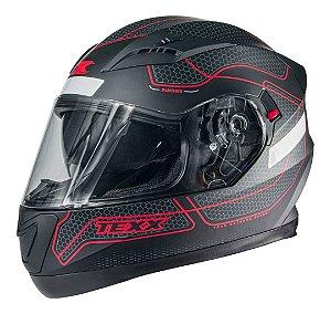 Capacete Texx G2 Panther Dupla Viseira Vermelho Fosco