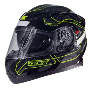 Capacete Texx G2 Panther Dupla Viseira Interna Verde