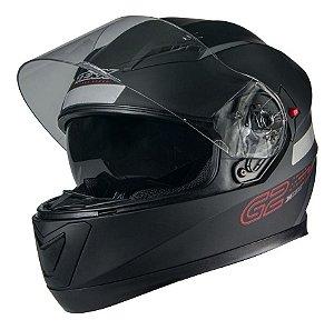 Capacete Moto Texx G2 Solido Com Óculos Interno Vermelho
