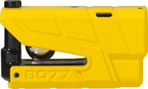 Trava De Disco Com Alarme Para Moto Abus 8077 Amarelo