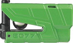 Trava De Disco Com Alarme Para Moto Abus 8077 Verde