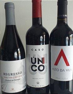 Vinhos Portugueses kit 3 unidades R$ 89,00 reais