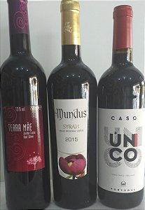 Kit 03 vinhos portugueses Tinto sêco R$ 74,90 reais