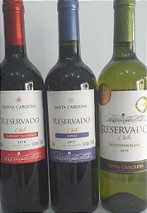 Kit 04 - vinhos chilenos tinto sêco R$ 79,90 reais ( três garrafas )