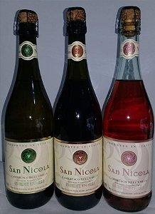 Kit 02 Lambruscos San Nicola bco/tto/rosé 03 unid. R$ 65,00 reais