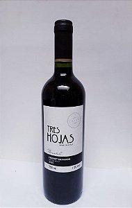 Vinho Três Hojas Cabernet Sauvignon R$ 26,90 reais