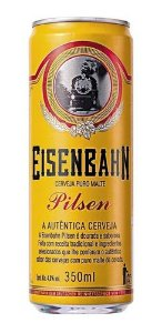 Cerveja Eisenbahn Pilsen Lata 350 ml R$  8,00 un.