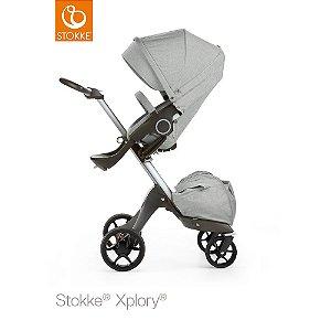 Carrinho Stokke Xplory Grey Melange - Disponível na Loja Física