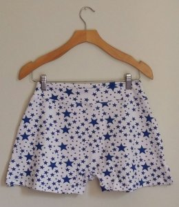 Cueca boxer feminina estrela azul