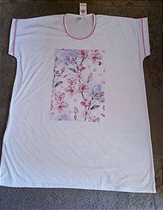 Camisetão floral rosa 3225